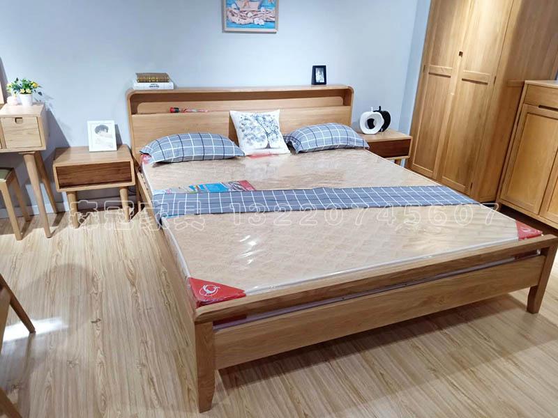 A款凯发平台app实木书架床 床垫...